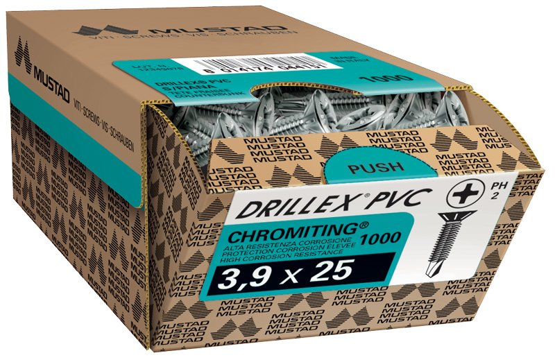 drillex pvc chromiting 3,9x25 tsp ph scatola commerciale