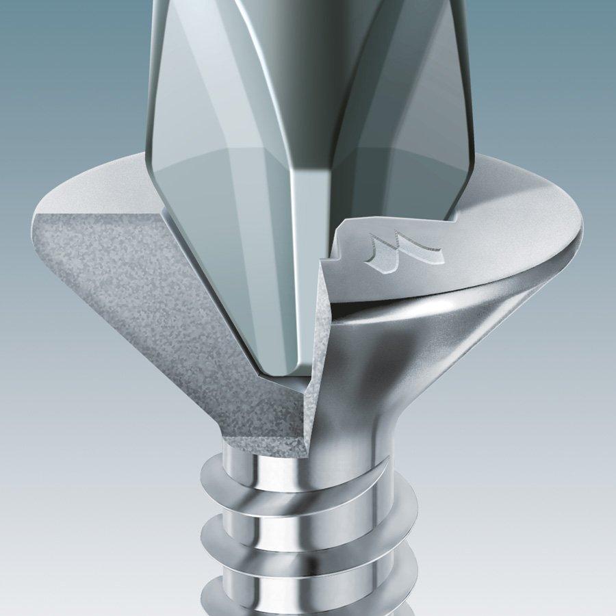 drillex tsp ph zincata bianca spaccato inserto
