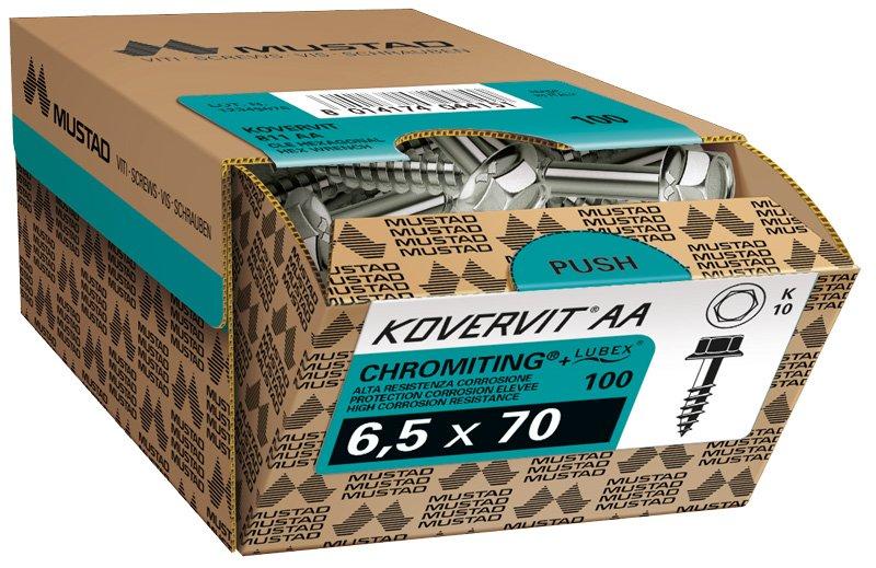 mustad kovervit aa testa esagonale scatola commerciale
