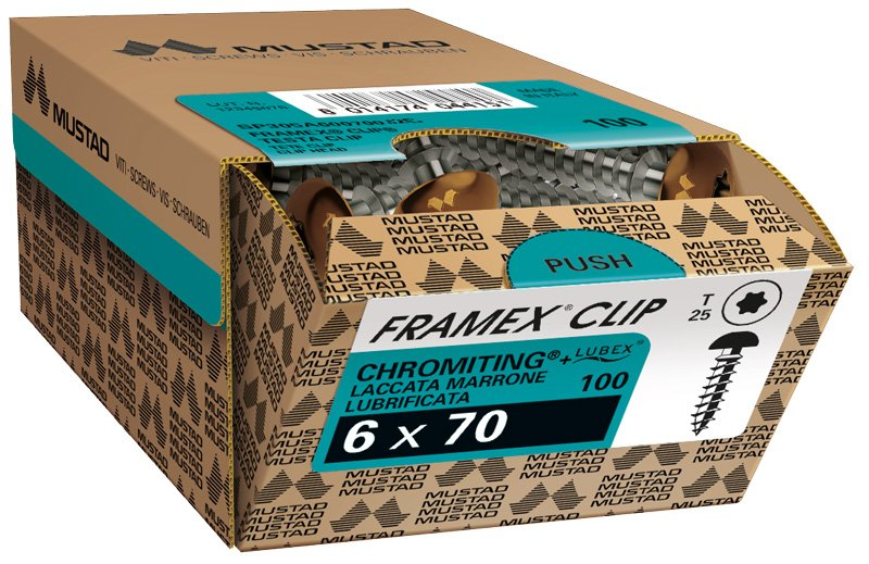 framex clip chromiting tx marrone scatola commerciale