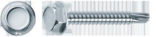 drillex tecc esagonale zincata bianca