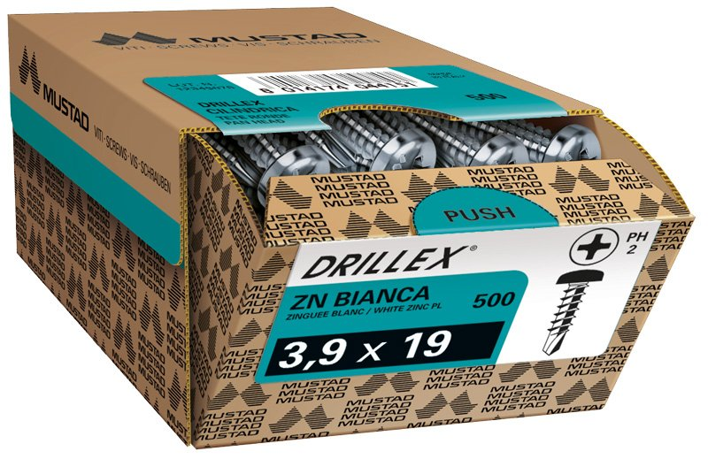 drillex tc ph zincata bianca scatola commerciale