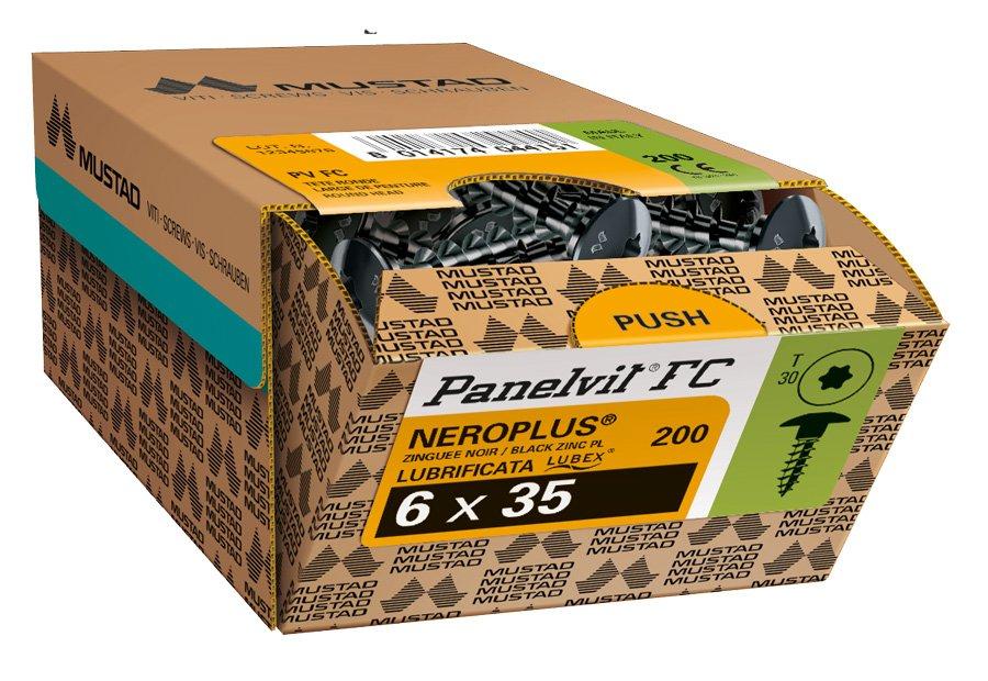 panelvit fc neroplus tx scatola commerciale viti mustad