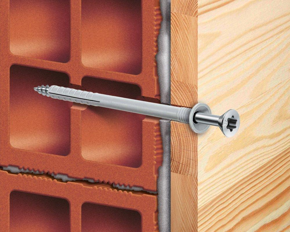 vite legno per tasselli applicazione pannello legno mustad